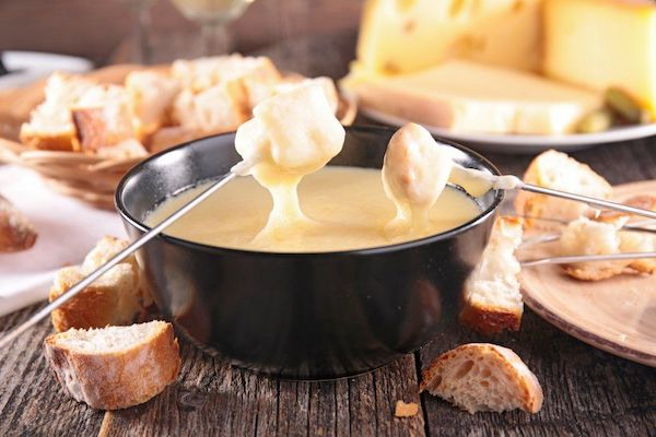 Swiss Cheese Fondue at TOMS